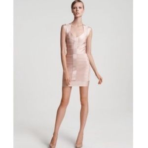 French Connection Bandage Dress Light Pink 6